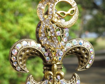 NOLA VINTAGE Tree Jewelry Christmas Ornament Fleur de Lis New Orleans