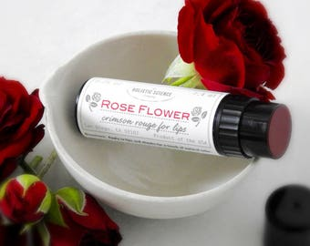 Rose Flower Balm - Crimson rouge for cheeks and lips 0.25oz