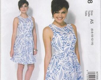 Flirty Summer Dress Pattern McCalls 7088 Sizes 6 - 14 Uncut