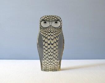 Vintage Extra Large Abraham Palatnik Kinetic Lucite Owl Figurine