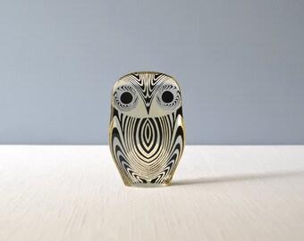 Vintage Medium Abraham Palatnik Lucite Owl Figurine