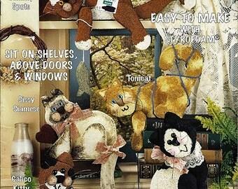 Sittin kittens Shelf Sitting Craft Pattern Book McCall's Creates no 15014