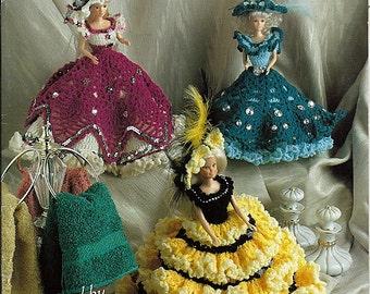 Glitz & Glamour Toilet Tissue Cover or Fashion Doll Crochet Pattern Annie Potter Presents 03010397