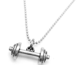 gym necklace designs fitness with good jewelry girls kettlebell in black pendant jewellery