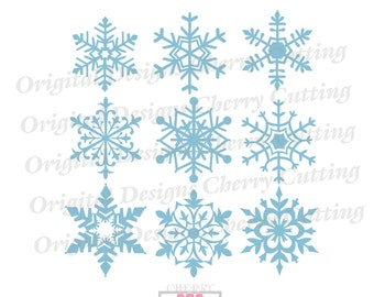 Snowflakes SVG eps jpg png, 6 Snowflakes svg, Snowflakes Silhouette Cut Files, Cricut Cut Files CHSVG20  -Personal and Commercial Use
