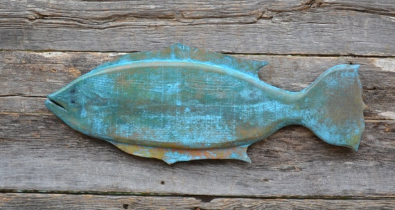 Floundering Reclaimed Wood Flounder Wall Hanging Fish Folk Art