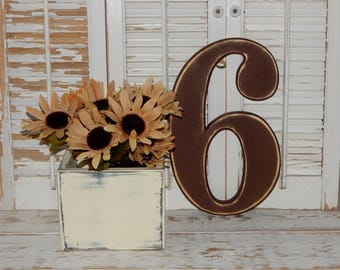 Number 6 Distressed Numbers Wall Decor Birthday Party Props Wood Numbers Choose Number & Color
