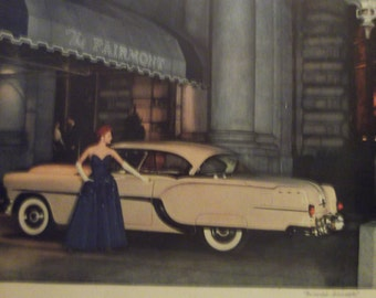 1954 PONTIAC STAR CHIEF  Original Vintage Automobile Advertisement Car Shop Garage Print Additional Ads Ship Free Ready To Frame