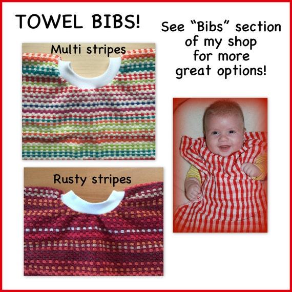1 Towel Bib Bulk Discount Girl Boy Dish By Mcdermotttreasures