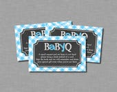 Blue Baby Q Bring a Book Shower Tickets Printable - Instant Download