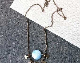 NAKI Aquamarine Sun Necklace