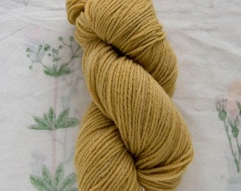 Naturally Dyed Mustard Yellow Wool Yarn