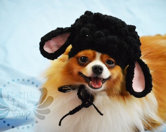 ANY Sizes/Colors Pet Black Sheep Hat Beanie (XS-XL)