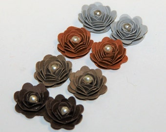 Mini Vintage inspired Handmade Prima Inspired Paper Rose Flowers for Scrapbooking,Mini Albums,Home Decor,Centerpieces,Gift Topper