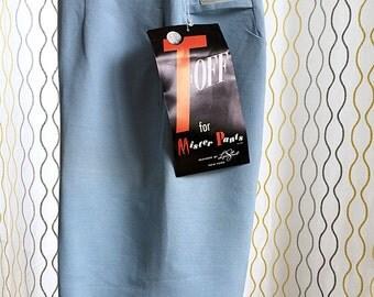 Vintage 60s pastel blue golf shorts/ T Off/ NOS Designed by Lynn Stuart for Mister Pants/ designer shorts