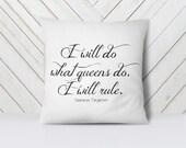 Game of Thrones Pillow- Game of Thrones Gift -Literary Pillow -Literary Quote - White 18X 18 Inch Pillow Cover & Insert - Daenerys Targaryen