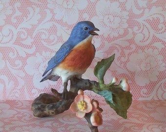 Avon Bisque Porcelain Bluebird Figurine