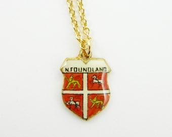 Newfoundland Charm Necklace - Canada 150 Gift - Maritimes Necklace