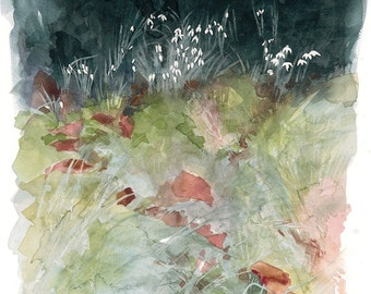 Snowdrops Watercolour Giclée print