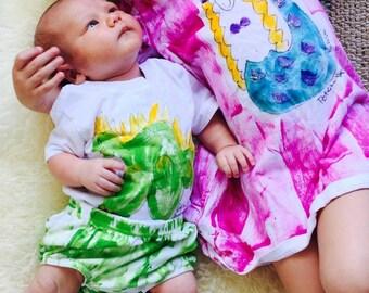 Girls Sundress - Girl Summer Dress  - Kauai Hawaii Mermaid - Mermaid Dress - Hawaii Girl Gift - Cotton Beach Dress - purple pink aqua