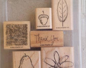 RETIRED Stampin' Up. All Natural. Fun Filled. Alphabits