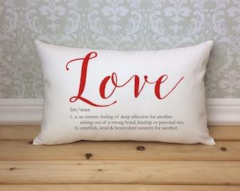 Liebe Definiert, Kissen, Benutzerdefinierte Liebe Definition, Valentinstag Kissen,  Kissen, Hochzeitsgeschenk