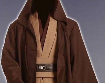 Star Wars Obi Wan Kenobi Jedi Tunic Cosplay Costume for Adult