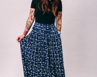 vintage 90s daisy floral maxi skirt | small medium | the mae skirt