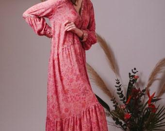 Bohemian wedding dress,Alternative wedding dress,Silk dress,Boho wedding dress,Flowy dress,Boho dress,Gypsy wedding dress,Hippie dress
