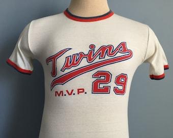 70s Vintage Minnesota Twins Rod Carew #29 MVP T-Shirt - SMALL