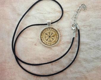 Vegvisir Necklace Viking Compass