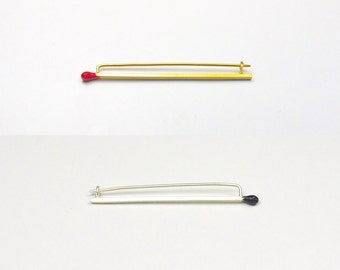 Matchstick Brooches