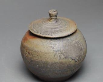 Wood Fired Sugar Bowl Jam Jar  Condiment Jar G66