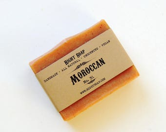 Moroccan Red Clay Soap - Mature Skin Soap, Oily Skin Soap, Detox Soap, Natural Soap, Handmade soap, Vegan soap, Unscented Soap, Artisan Soap