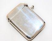 Antique Silver Plated EPNS Plain Flip Top Curved Back Vesta Case Match Safe with Pendant Loop (c1900s)