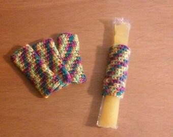 Rainbow Freezer Pop Cozies