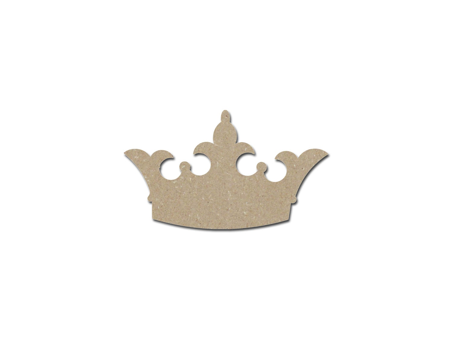 Princess Crown Shape Wood Cutout Wooden Unfinished Paintable