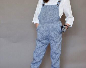 Girls overalls Girls dungarees Girls romper Toddler girls linen pants Girls jumpsuit Bib overall Girls clothes Summer clothes
