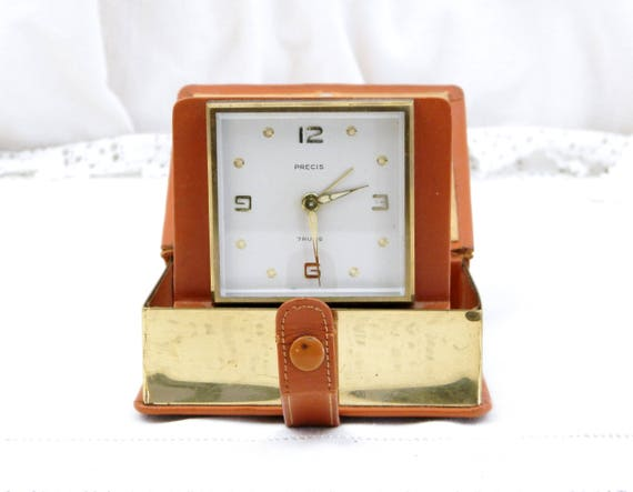 Unusual Pop Up Book Mechanical Travel Alarm Clock, Quality Working Vintage 7 Jewels Mechanism, Retro, Home, Interior, Timepieace, Time