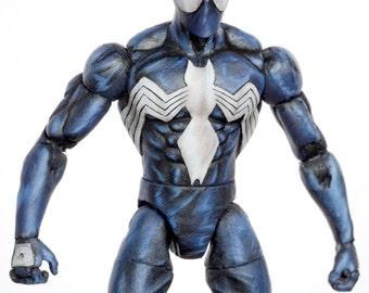 Spider-Man Marvel Legends Style Black Venom Symbiote Custom Action Figure