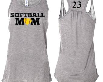 Softball Mom Tank Tops, Softball Mom, Softball, Softball Mom Tee, Softball Tank, Softball Mom T shirt, Softball Mom Shirts, Flowy Tank Top