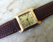 Art Deco Women's Watch, Seeland 17, Swiss Watch, 17 Jewels, Rolled Gold, 2-tone dial, sub seconds 1930s, Vintage Watch, Free Shipping