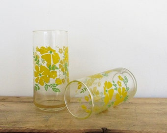 Yellow Floral Glasses