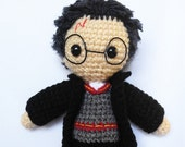 Amigurumi Harry Potter Crochet Wizard Doll