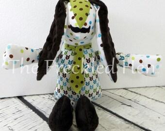 Stuffed animal bunny rabbit toy handmade doll easter bunny minky plush sensory baby crib toy child play free shipping
