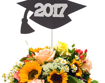 2017 Graduation Cap Centerpiece Stick, Class of 2017 Centerpiece Stick, 2017 Graduation Party Decor, Graduation Table Decor, Graduation Wand