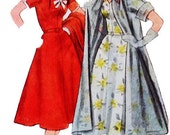 Simplicity 8476 Misses' Vintage 1950s Dress with Detachable Trim and Coat Sewing Pattern