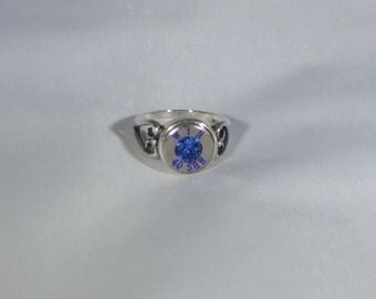 Sapphire Bullet Ring