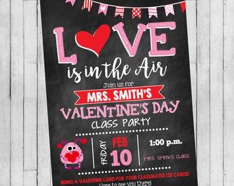 Valentine's Day Invitation | Valentine's Day Class Party | Valentine's Day Party Invitation | Digital Invitation