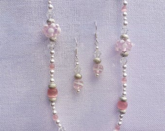 bubblegum pink jewelry set
